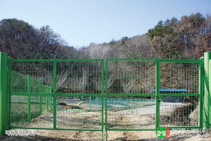 디자인대문-메쉬-미닫이문-휀스종류-철망-울타리-팬스-담장-fence-현대휀스개발