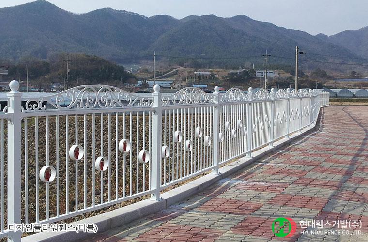 디자인플라워휀스-펜스-학교-휀스종류-철망-울타리-팬스-담장-fence-현대휀스개발-1