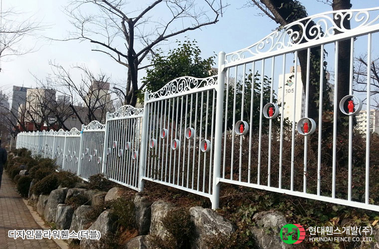 디자인플라워휀스-펜스-학교-휀스종류-철망-울타리-팬스-담장-fence-현대휀스개발-2