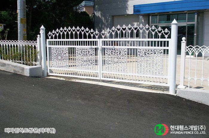 디자인하트쌍문-아치형-공장-휀스종류-철망-울타리-팬스-담장-fence-현대휀스개발-1