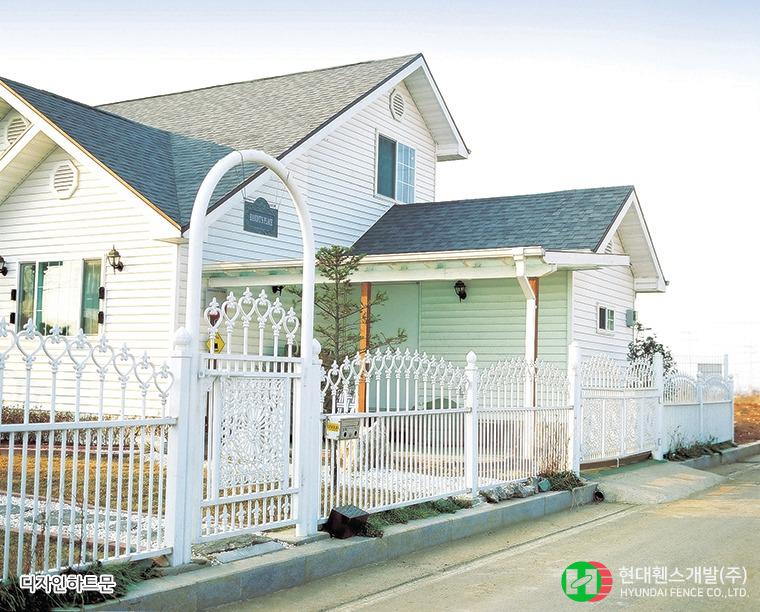 디자인하트외문-아치형-아치문주-휀스종류-철망-울타리-팬스-담장-fence-현대휀스개발-1