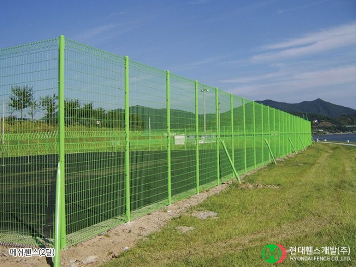 메쉬휀스-펜스-2단-휀스종류-철망-울타리-팬스-담장-fence-현대휀스개발-3