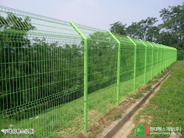메쉬휀스-펜스-L형-휀스종류-철망-울타리-팬스-담장-fence-현대휀스개발-1
