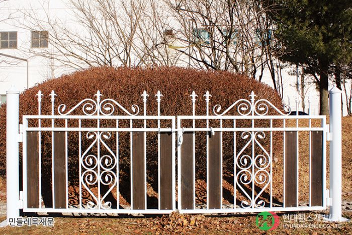 민들레목재문-쌍문-휀스종류-철망-울타리-팬스-담장-fence-현대휀스개발