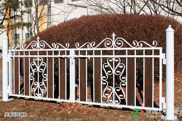 포플러목재문-쌍문-휀스종류-철망-울타리-팬스-담장-fence-현대휀스개발